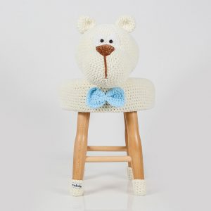 makuka - háčkovaná taburetka medved